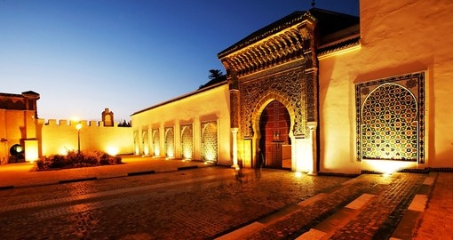 Moulay Ismail Mausoleum Meknes is a great photo opportunity on all Morocco vacations.