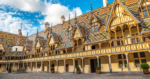 Traditional architecture in Beaune