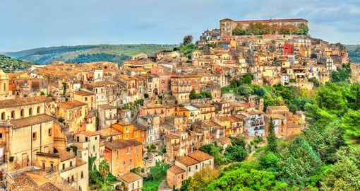 Ragusa sits among rocky peaks in northwest Sicily