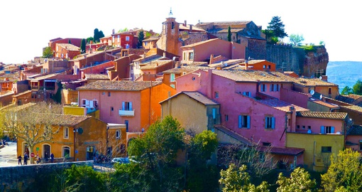 Roussillon, famous for its magnificent red cliffs and orchre quarries