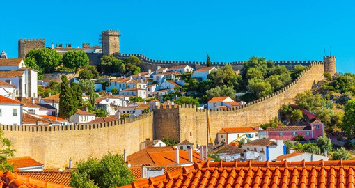Obidos is the finest example of a Portuguese walled town and dates from 1214