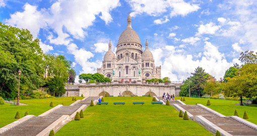 The Basilica of the Sacred Heart (Sacré-Coeur) in Montmartre is the jewel in the crown of Paris' most famous district