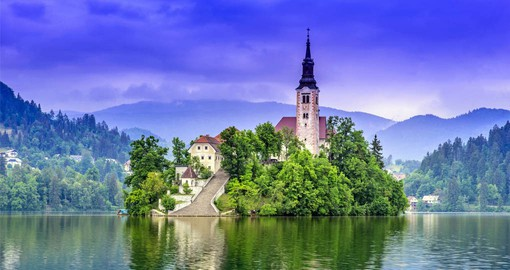 Bled is Slovenia's most popular resort and home to a beautiful Gothic church