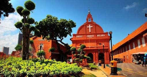 Historical Malacca and the Christ Church Melaka