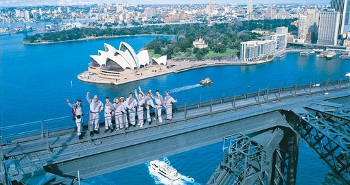Group Summiting Sydney Harbour Bridge