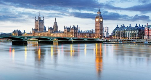 Your London Vacation gives you time to visit all the hightlights including The Houses of Parliment and Big Ben