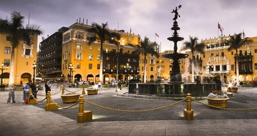 Stroll through the Plaza de Armas on your South America Tour