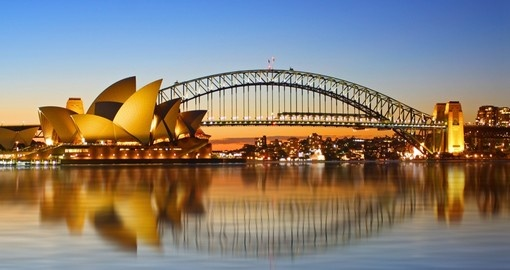 Sydney's spectacular Opera House and Harbour Bridge