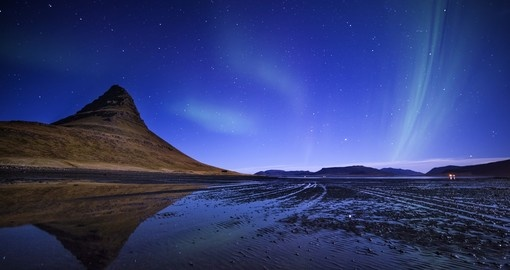 Northern lights over Western Iceland