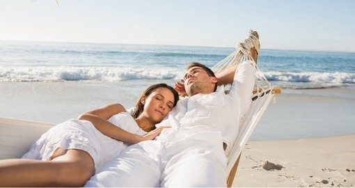 Enjoy your Bali honeymoon relaxing in a hammock on the beach