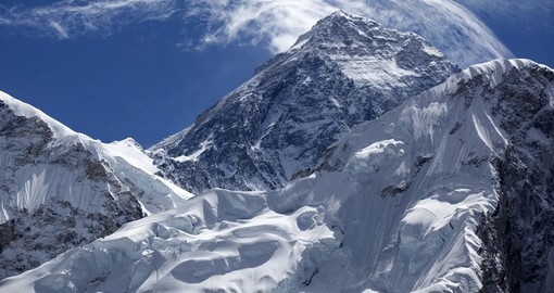 Mount Everest - the worlds highest mountain at 8850m