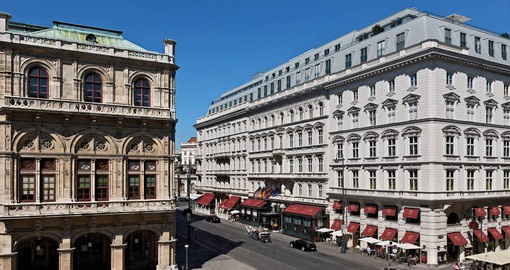 Founded in 1876, Hotel Sacher occupies a prime location adjacent to the Vienna State Opera
