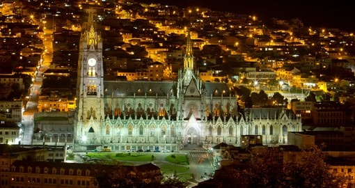 One of Quito iconic locations, Basilica Cathedral, and a photo opportunity on all Chile vacations