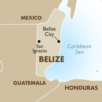 Belize Country Map