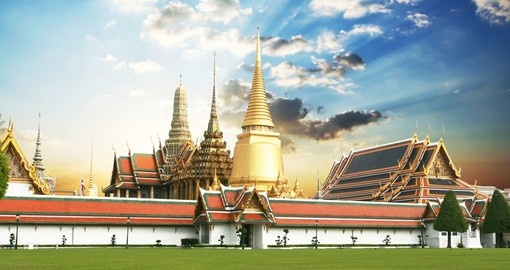Visit the gold trimmed Grand Palace on one of your Trips to Thailand