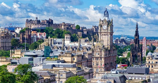 Edinburgh, Scotland's capital city has a medieval Old Town and elegant Georgian New Town