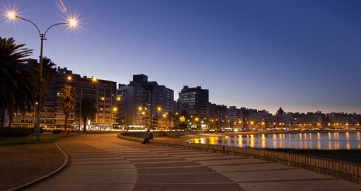 Stroll the Montevideo Rambla on your trip to Uruguay