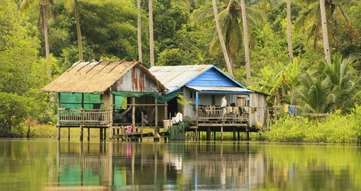 See traditional Stilt houses on your Cambodia Vacation