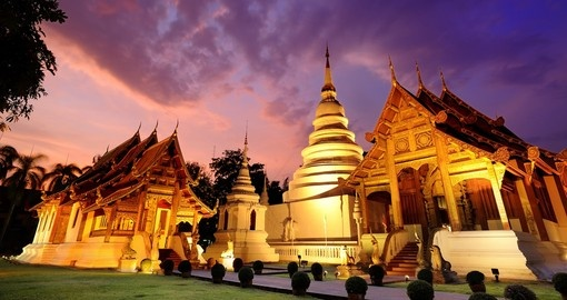 Phra Singh temple in Chiang Mai is a must for all trips to Thailand.