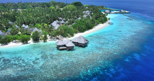 Aerial view of Bandos Maldives