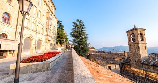 Streets and buildings of San Marino