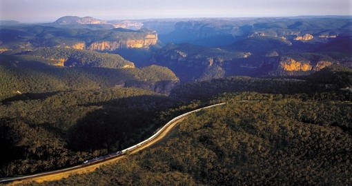 The Indian Pacific Train travelling through the countryside is included in your Australia Travel Packages.