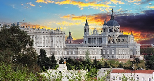 \Almudena cathedral and Royal Palace in Madrid