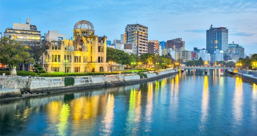 Hiroshima's Peace Memorial Park is one of the most prominent features of the city