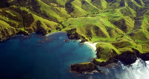 Hills and mountains along the coastline of Northland