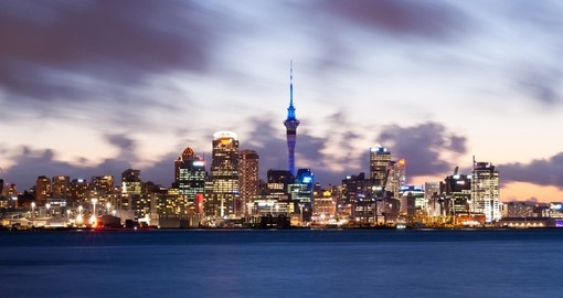 You will be impressed with Auckland's skyline, including Sky Tower, when booking one of our New Zealand vacation packages that includes Auckland.