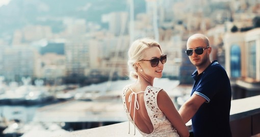 Young couple in Monaco