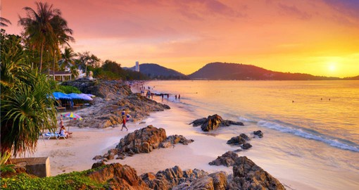 Walk on the amazing Patong Beach in Phuket during your next Thai vacations.