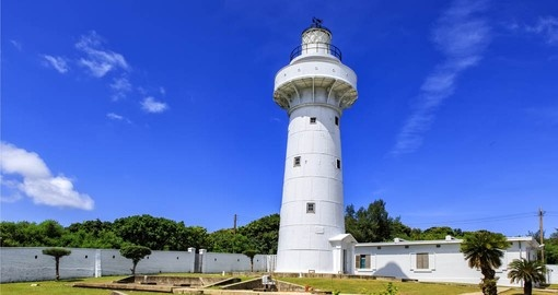 Wander around the grounds of the Eluanbi Lighthouse in Kenting during your Trips to Taiwan.
