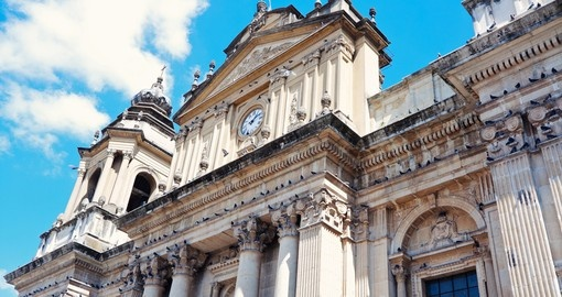 Visit Cathedral in the Center of Guatemala City during your next Guatemala vacations.