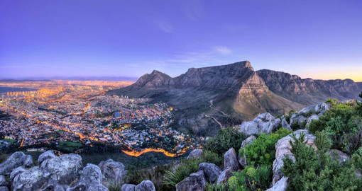 Cape Town, a singularly beautiful city crowned by the magnificent Table Mountain National Park