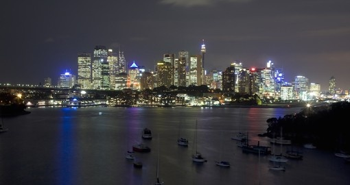 Experience Sydney City view at night