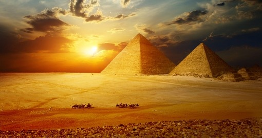 The great pyramids in the Giza valley will be the highlight of your Egypt vacation.