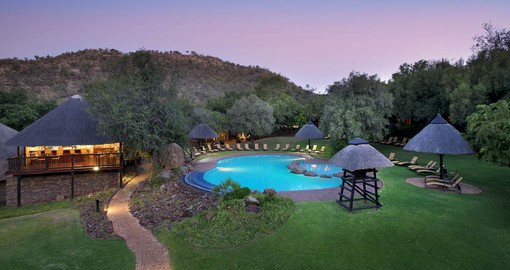 Bakubung Bush Lodge blends modern day luxuries with a full-on African wildlife experience