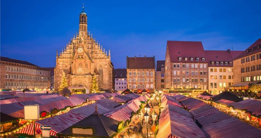 The Christmas Market in Nuremberg's Old Town will put anyone in the mood for the holidays
