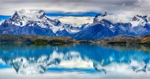 The rivers of Patagonia feed a series of crystal-clear lakes