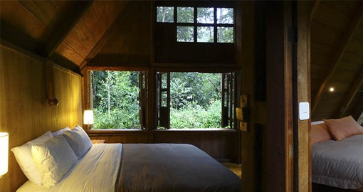 The comfortable cabins at the lodge