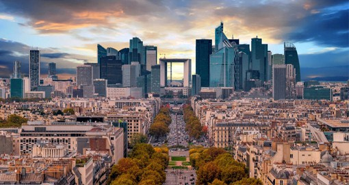 La Defense is Europe's largest business district. The modern landscape is dotted with 60 art works