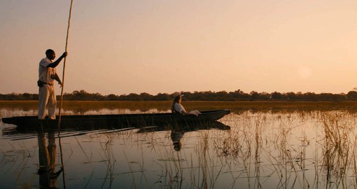 Mokoros, local dugout canoes, offer a different perspective of the bush