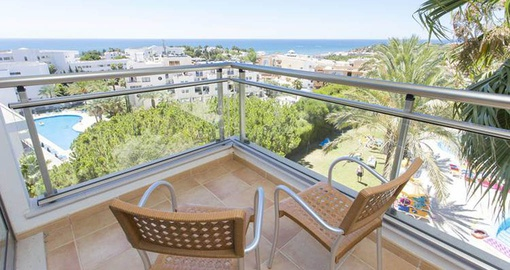 Unwind on your balcony on your Portugal tour