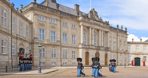 Amalienborg Castle in Copenhagen is one of the many tourist attractions you can see during your Denmark trip.