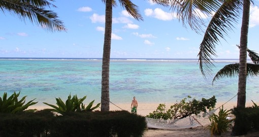 Explore and walk on your personal beachfront in Rarotonga during your next Cook Island Vacation.