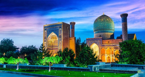 Samarkand, Uzbekistan is one of the oldest cities of Central Asia with an old town dating from medieval times