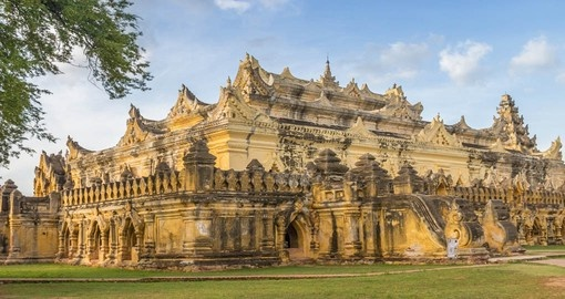 Learn about culture in the ancient Bon Zan Monastery during one of your Myanmar Tours.