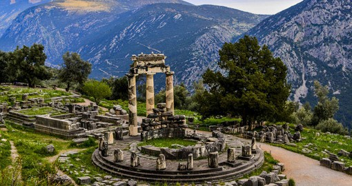 Delphi was considered the centre of the world by the ancient Greeks