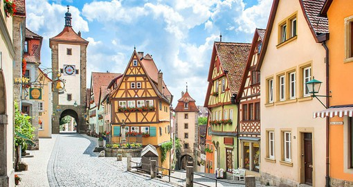 Stop at the beautiful and historic town of Rothenburg ob Der Ttauber